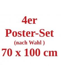 4 x Poster 70 x 100 cm nach Wahl
