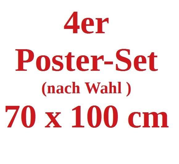 4 x Poster 70x100cm nach Wahl